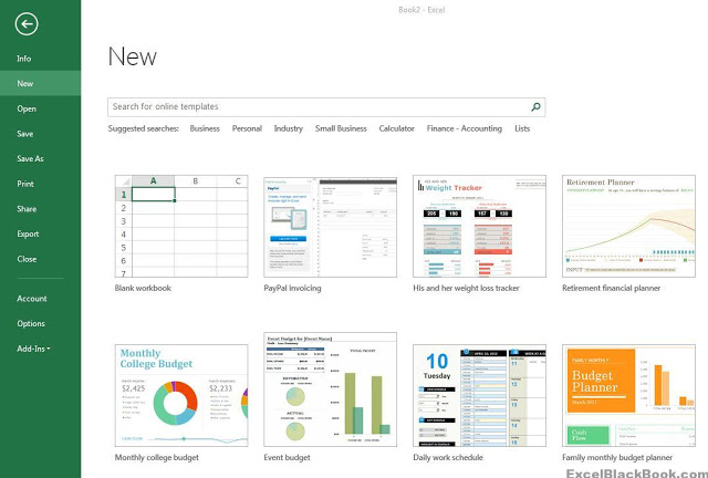 Start-Screen-ExcelBlackBook.com_
