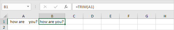 Trim Function in Excel