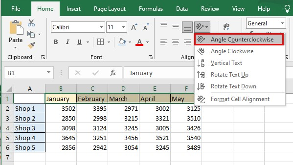 How to Rotate Text in Cells in Excel